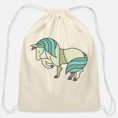 Pony Blue Pony Graphic - Cotton Drawstring Bag