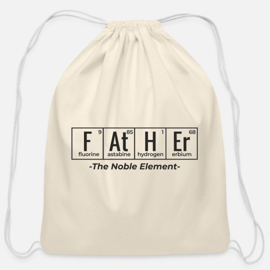 Geek Bags & Backpacks - Father in Science Periodic Table - Cotton Drawstring Bag natural
