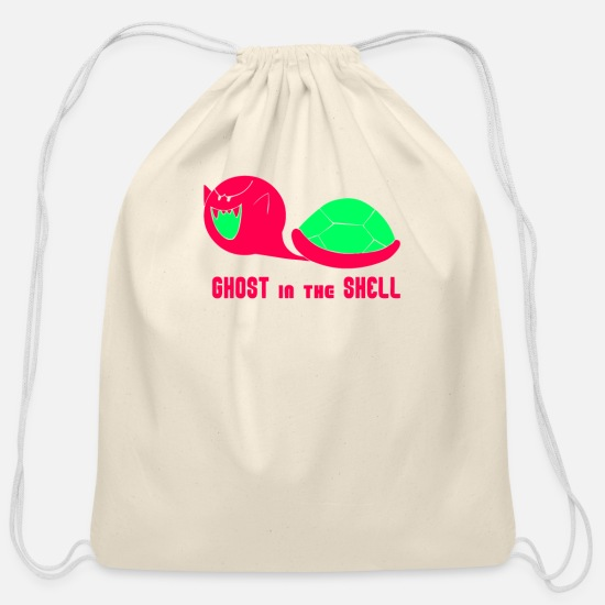 Typography Bags & Backpacks - Boo In The Shell - Cotton Drawstring Bag natural