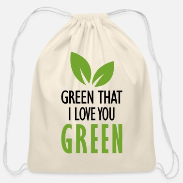 Poema Verde que te quiero verde - Cotton Drawstring Bag