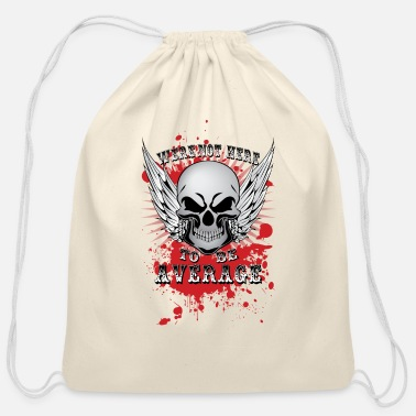 Average Average - Cotton Drawstring Bag