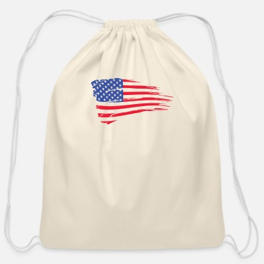 United States Of America United States Of America Flag - Cotton Drawstring Bag
