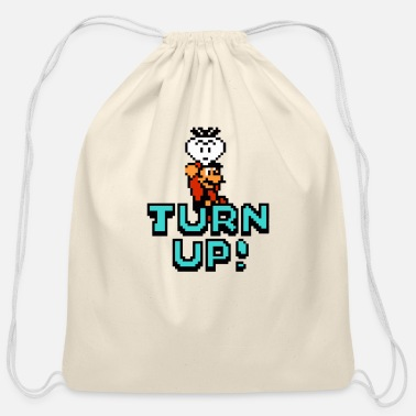 Turn On Turn Up - Cotton Drawstring Bag