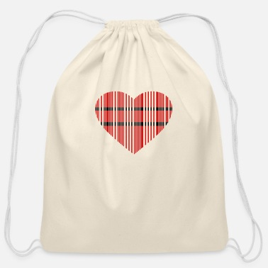 Offspring barcode love 2c - Cotton Drawstring Bag