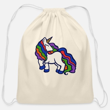 Rainbow Unicorn Rainbow Unicorn - Cotton Drawstring Bag
