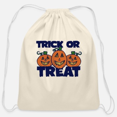 Trick Or Treat Trick or Treat - Cotton Drawstring Bag