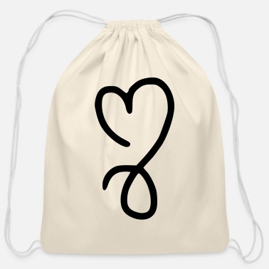 Queen heart emojis sketch - Cotton Drawstring Bag