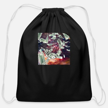 Wealthy Money Flying to me artistic design - Cotton Drawstring Bag