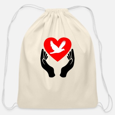 Dove Of Peace Dove of Peace - Cotton Drawstring Bag