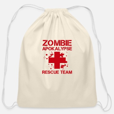 The Doctor Zombie apocalypse emergency doctor ambulance - Cotton Drawstring Bag