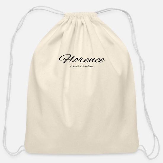 Baseball Bags & Backpacks - South Carolina Florence US DESIGN EDITION - Cotton Drawstring Bag natural