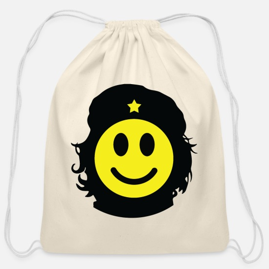 General Bags & Backpacks - Revolutionary smiley - Cotton Drawstring Bag natural