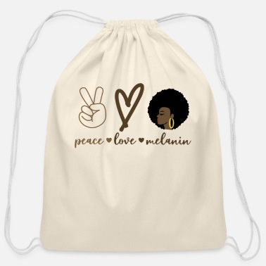 Shade African AmericanPeace Love Melanin Shades Gift - Cotton Drawstring Bag