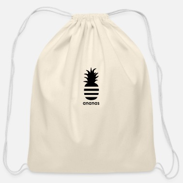 Sporty Sporty Ananas - Cotton Drawstring Bag