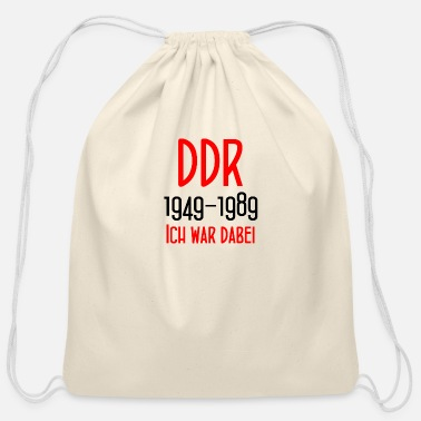 East Berlin DDR 1949-1989 Ich war dabei - GDR - East Berlin - Cotton Drawstring Bag