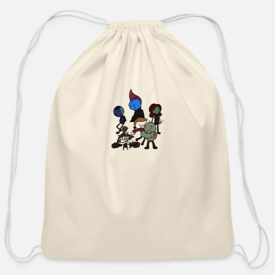Game Bags & Backpacks - Hooked on a Feeling - Cotton Drawstring Bag natural