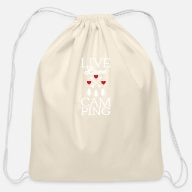 Roast Funny Live Love Camping Tent Outdoor Camper - Cotton Drawstring Bag