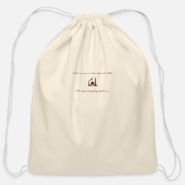 Arabia A really cool mosque Design - Cotton Drawstring Bag