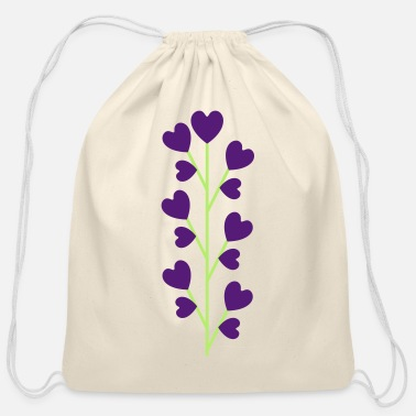 Little Sister Flower of love - Cotton Drawstring Bag