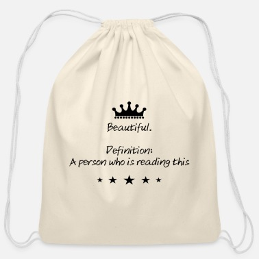 Beautiful Beautiful - Cotton Drawstring Bag