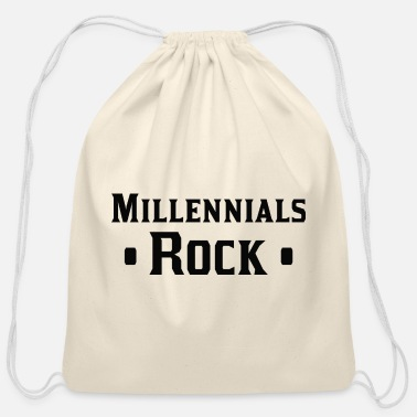 Millennials Millennials Rock - Cotton Drawstring Bag