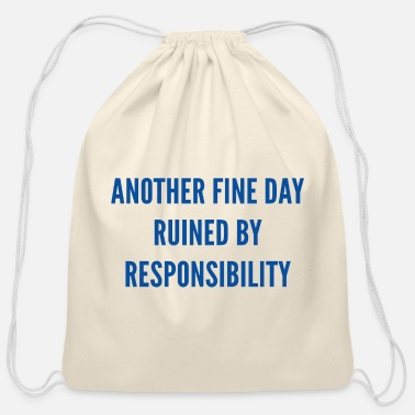 Responsible Responsibility - Cotton Drawstring Bag