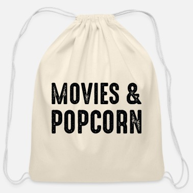 Movies Movies And Popcorn - Cotton Drawstring Bag