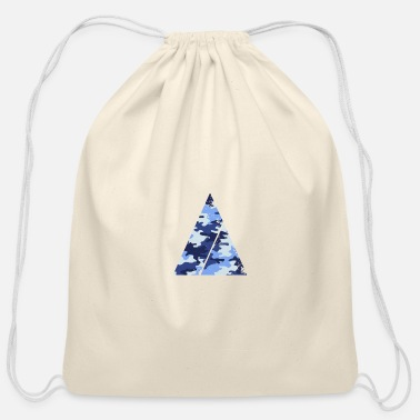 Super Triangle camouflage pattern with horizontal stripe - Cotton Drawstring Bag