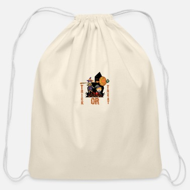 whats up witches trick or treat - Cotton Drawstring Bag