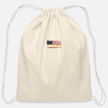 P.E. USA Flag Patriot Coach. PE Physical Education - Cotton Drawstring Bag