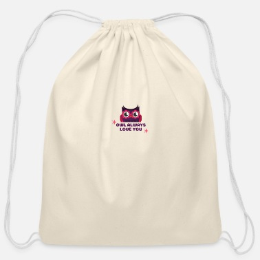 Occasion Owl Valentine's Occasion - Cotton Drawstring Bag