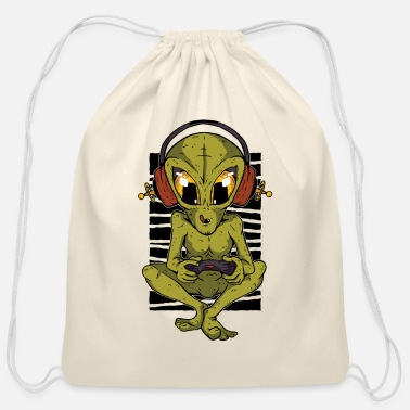 Aliens game lover lovers Illustration - Cotton Drawstring Bag
