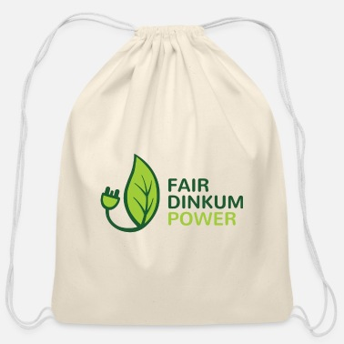 Dinkum Fair Dinkum Power merch - Cotton Drawstring Bag
