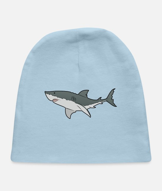Great Baby Hats - Great White Shark - Ocean - Sea - Baby Cap light blue