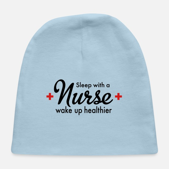Nurse Baby Caps - nurse - Baby Cap light blue