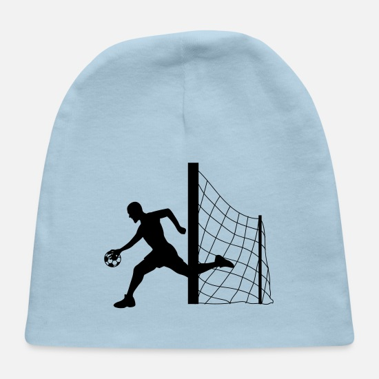 Running Baby Caps - sport goalkeeper sprinting football goalkeeper man - Baby Cap light blue