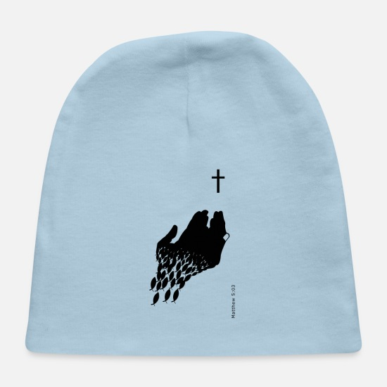 Love Baby Caps - Matthew5:03 - Baby Cap light blue