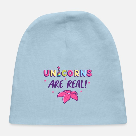 Vibe Baby Caps - UNICORNS ARE REAL - Baby Cap light blue