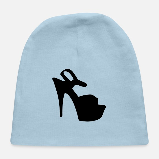 Woman Power Baby Caps - Vector highheels Silhouette - Baby Cap light blue