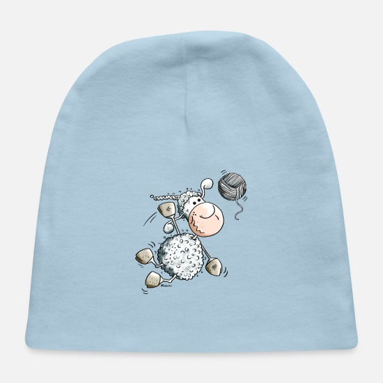 Humor Baby Caps - Funny Sports Sheep - Baby Cap light blue