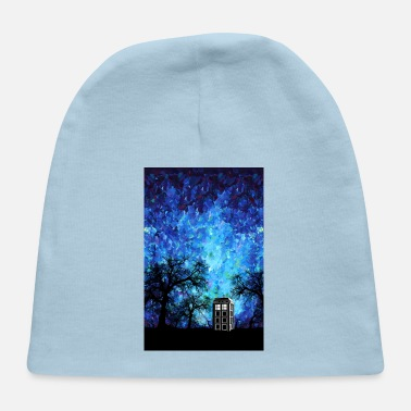 Miscellaneous Lonely Blue Phone Booth Starry night Phone case - Baby Cap