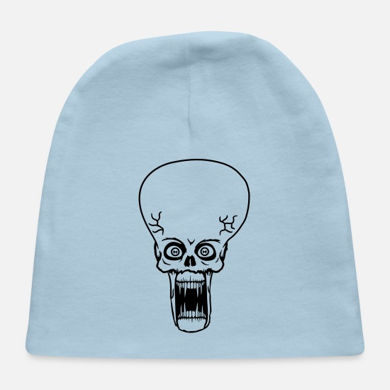 Cosmic Baby Caps - head face evil ugly disgusting tentacle monster ho - Baby Cap light blue