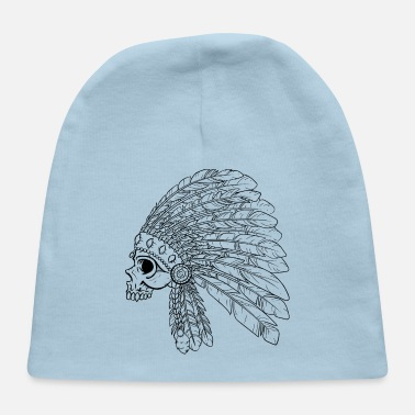 American Indian Native American Indian Skull - Baby Cap