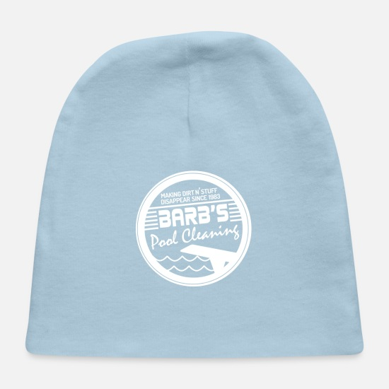 Baby Caps - Funny Barb Barb's Pool Cleaning Retro 80's T Shirt Gift - Baby Cap light blue