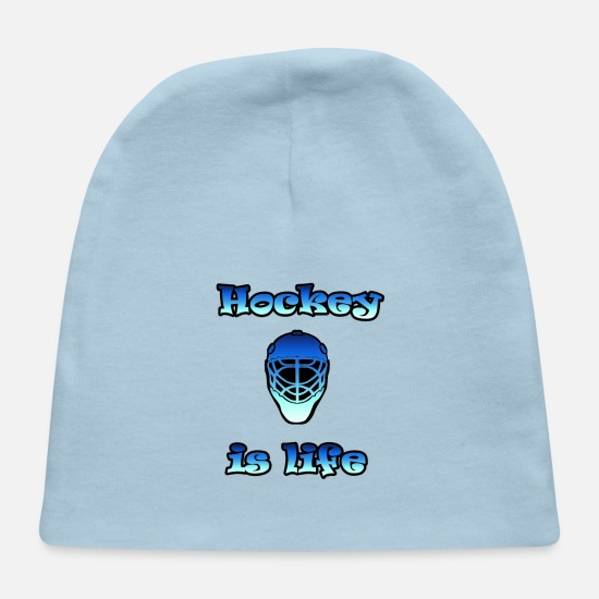 Gift Idea Baby Caps - Hockey is Life - Baby Cap light blue