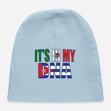 Mexican And Cuban DNA Mix Heritage Gift - Baby Cap