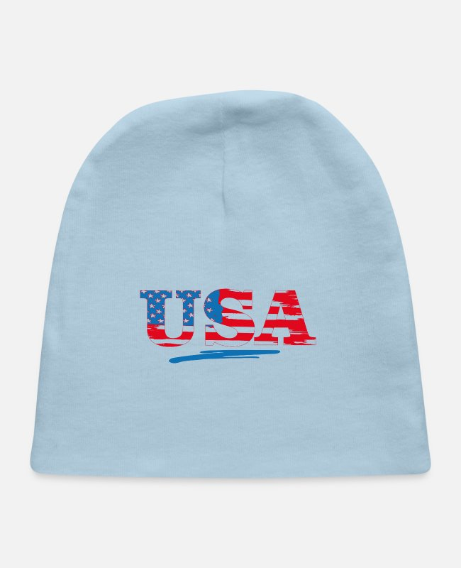 Usa Baby Hats - 4th of july/memorial day gift/independence day gif - Baby Cap light blue