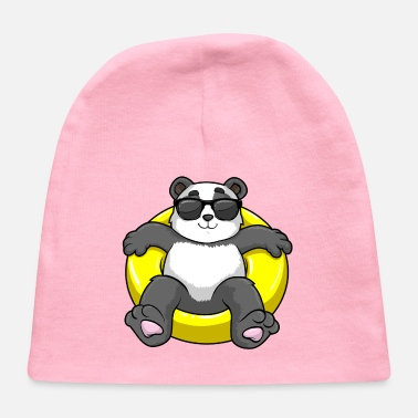 Swimming Course Panda with Sunglasses at Swimming with Swim ring - Baby Cap