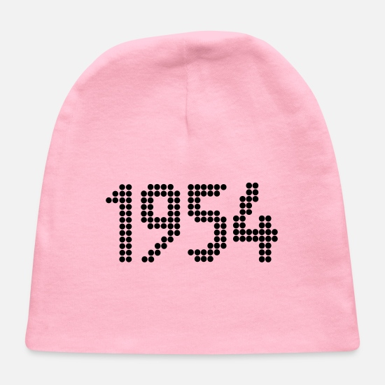 1954 Baby Caps - 1954, Numbers, Year, Year Of Birth - Baby Cap light pink