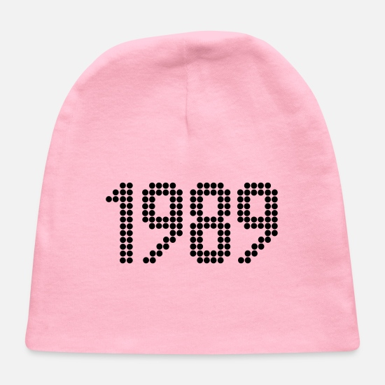 Birthday Baby Caps - 1989, Numbers, Year, Year Of Birth - Baby Cap light pink